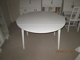 KITCHEN STYLE DROP LEAF TABLE PAINTED LAURA ASHLEY COUNTRYWHITE