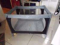 TRAVEL COT. GOOD CLEAN CONDITION. EASY ASSEMBLE. COLLECTION LOW MOOR