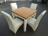 Top quality, extendable table with 6 chairs