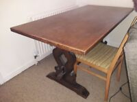 Oak dining table for sale.