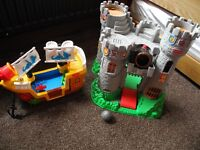 Fisher Price castle , ship and knights