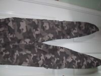 Boys BHS Camouflage grey trousers for age 12~13yrs 152-158cm