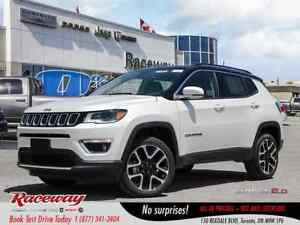 2018 Jeep Compass Limited | LEATHER | NAV | PARKSENSE | BLUETOOT