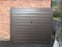 Pressed steel up and over garage door