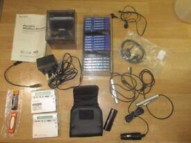Two SONY Portable Mini Disc Recorders