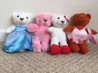 Family of 4 x Teddy Bear soft toys