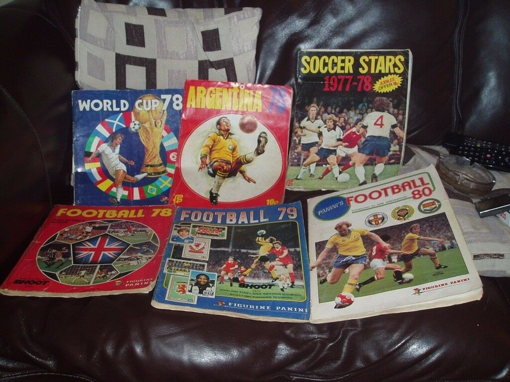 VARIOUS PANINI AND MERLIN FOOTBALL STICKER BOOKS AND STICKERS MORE OF THE INSIDE PICS ADDED