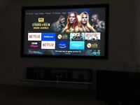 100 inch fixed projector screen new boxed. High end.
