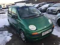 DAEWOO MATIZ 796 cc ENGINE VERY LOW MILES ONLY 37000 FROM NEW LONG MOT IDEAL RUNABOUT IN VGC