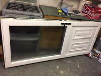 White PVC door and frame