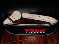 Heavy duty leather weightlifing belt - as new.