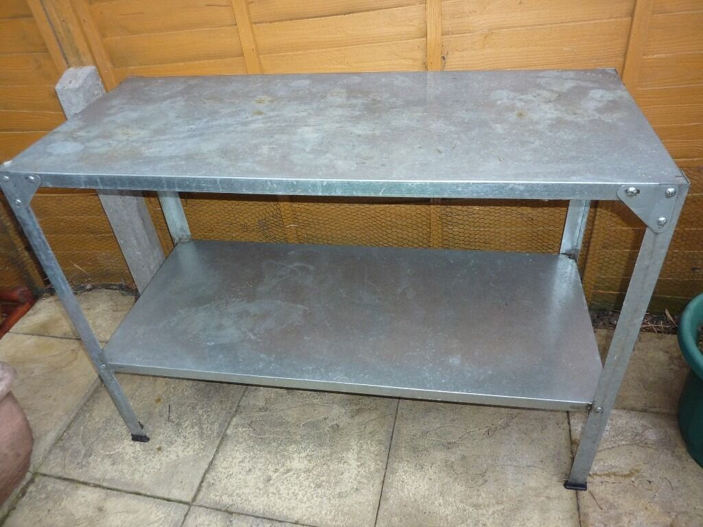 Palram Staging Steel Potting Bench X 2 In Woodford