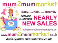 Mum2Mum Market Pop Up Baby & Kids Nearly New Sale, Basildon Upper Academy.