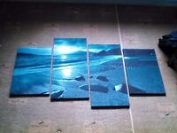 Stunning teal canvas prints