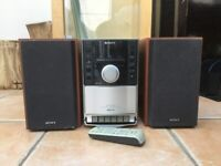 SONY small CD/cassette/radio audio stereo player with remote controller