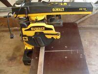 Dewalt DW720 RADIAL ARM SAW IN G.W.O BARGAIN £225