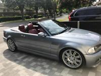 Bmw m3 e46 convertible, full mot service, red leather