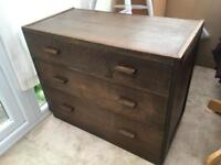 Lovely Vintage solid wood chest of drawers