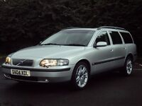 "VOLVO V70 2.4 D5 SE 2004 '04', MOT MARCH 2017, MET SILVER, 17"" ALLOYS, LEATHER, EX CONDITION."