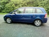 2009 Vauxhall Zafira, 1.9 cdti, diesel, 120 BHP, 7 seater, 12 months MOT
