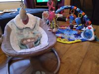 Baby swing and play mat with toys £35