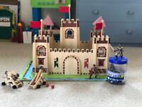 Medieval Wooden Castle Toy, complete set with extra 6 knights excellent con