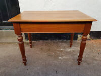 Solid small dining table or side table