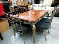 Stunning dining table with 6 chairs
