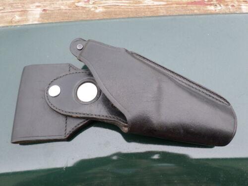 VTG BUCHEIMER B7B-24 Black Leather Police issue Patrolman RH Pistol Holster