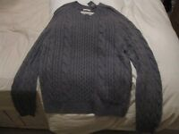 Abercrombie and Fitch Grey Cable Knit Jumper, BNWT size XXL