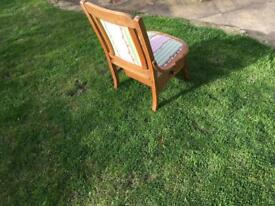 Small oak chair