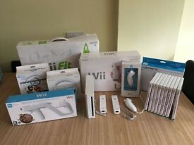 Nintendo Wii 2 remotes/chucks and 9 games