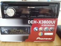 PIONEER DEH-X3800UI Car Stereo CD MP3 AUX in USB iPOD iPHONE