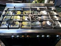 Beaumatic duel fuel 5 hob oven with grill and removable bottom oven tray