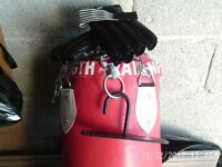 PUNCH BAG AND GLOVES AND CEILING HOOK