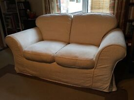 Two Seater Sofa - Cream - Fully Washable