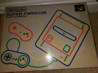 Japanese super famicom snes console