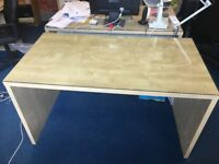 IKEA Beech Office Desk with Glass Top 76 (h) x 140 (l) x 75 (w) Used - £40 each / 5 available