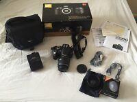 Nikon D3200 + 18-55mm Lens + Super Wide Angle Lens + CamRock Bag + 1 Year Warranty