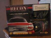 Recon Smoked LED Cab Lights for Chev GMC Sierrra