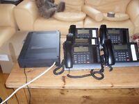 Toshiba Strata CIX40 Telephone System CHSU40F and DP5022F-SD Phones