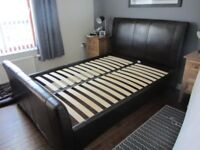 faux leather double bedframe, good condition free to uplift