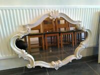 Cream Oval Next Overmantal Mirror Georgeous Shabby Chic