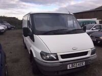 2003 FORD TRANSIT SWBASE IN NICE CONDITION PLYLINED LOADS SERVICE HISTORY DRIVER SIDE DOOR PX WE