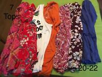 Ladies tops tunics size 20-22