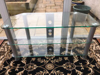 Glass TV DVD unit in excellent condition