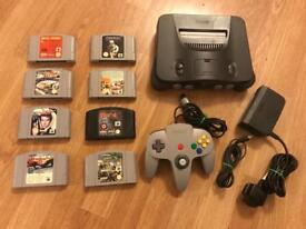 Nintendo 64 console with games. N64. Xmas pressy?