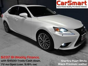 2015 Lexus IS 250 AWD, Premium + Luxury Pkg's, No Accidents, Nav