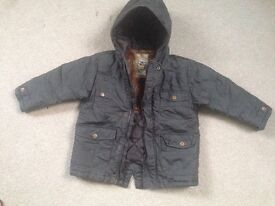 Next boys brown coat age 2-3 years