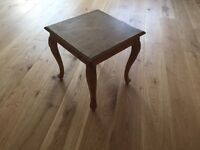 Curved pine side table